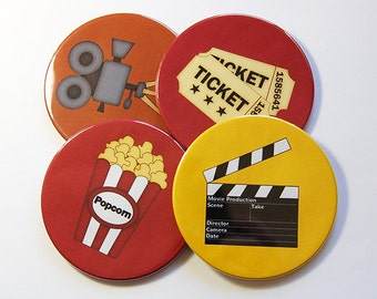 Movie Coasters, Coasters, Wine Coasters, Drink Coasters, Tableware, Housewarming Gift, Hostess Gift, Movie Night, Tableware (5019)