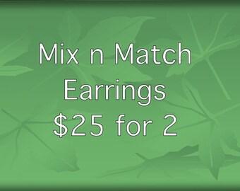 Mix n match - multibuy earrings - bundle earrings - 2 pairs earrings - earrings offer - earrings special - 2 for 25 - offer - multibuy sale