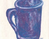 Enlarged Sketch Purple Mug