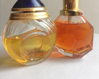 80's Boucheron Eau De Toilette and Avon Facets Cologne, set of 2, vintage perfume / fragrances, Greece
