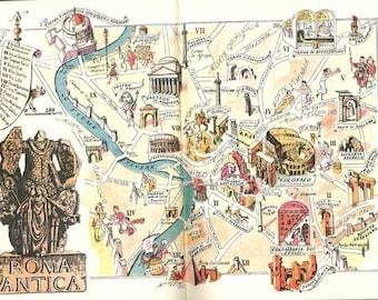 Alexandria Map Art Vintage Map Of Alexandria Egypt Old Map - Rome map cartoon