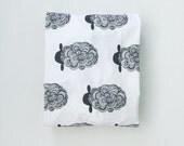 crib sheet in black sheep // made-to-order
