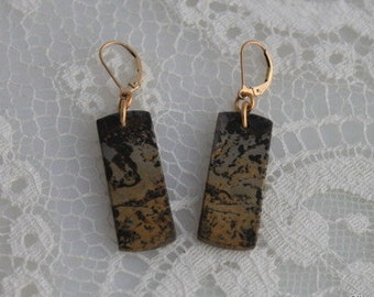 WILD HORSE JASPER Earrings - Gold Filled Ear Wires,  Ready to Ship Made in Usa