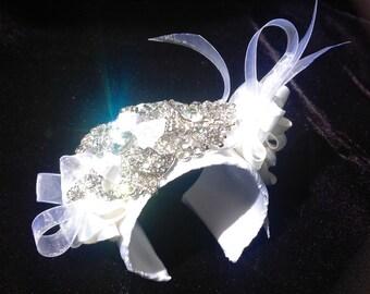 Brooch Bouquet Bracelet Bridal Cuff White Brooch Bracelet Sparkling Bridal Jewelry