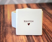 Unique Flower Girl Gift - Deep Square Keepsake Box - With Gift Box