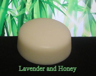 Lavender and Honey Organic Solid Lotion Bar Natural Super Large 7 oz.