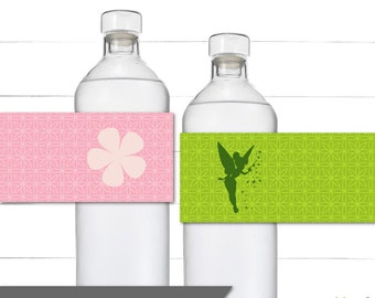 Water Bottle Labels - Decorative Wraps - Napkin Rings - Fairy Birthday - Tinkerbell Birthday - Pixie Hollow Collection - Instant Download