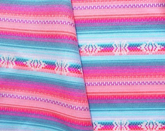 Peruvian Fabric, Andean Fabric, Woven, Pink Manta, 8 YARD PIECE
