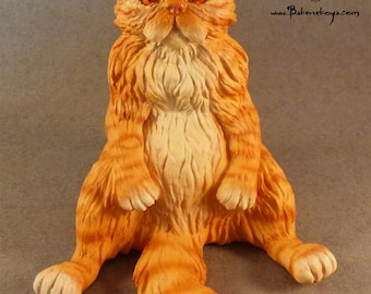 Persian Cat sculpture - Ginger