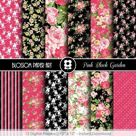 Papel decorativo rosa y negro papeles decorativos para - Papel de pared blanco y negro ...
