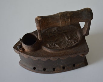 Antique Japanese charcoal iron