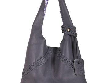 VENICE. Leather shoulder bag / leather tote bag / leather bags women / slouchy leather bag / boho tote. Available in different leather color