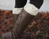 Boot Cuffs // Cable Knit Boot Cuffs // Two in One Design // Leg Warmers // Pinterest Favorite // Fall Fashion // Slip on // Knit Accessory