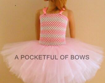 Pink Tutu Dress Newborn Toddler and Girls Size