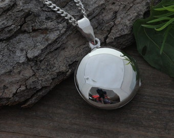 Lockets, Sterling Silver Locket Necklace, Personalized Round Locket  Confirmation, Choose Italian chain. R-2