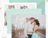 SALE Save the Date Template for Photographers, Save the Date Card Announcement, Photography Templates, Photoshop Templates - SD136