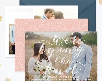 Save the Date Template for Photographers, Save the Date Card Announcement, Engagement Photography Templates, Photoshop Templates - SD138