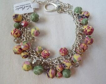 Viva Beads polymer clay beads crystal bracelet