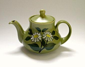 Vintage Retro Flower Pattern 60's Teapot