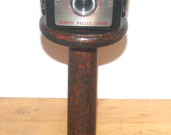 1950s Kodak Brownie Bullet Camera, Industrial, Home Office Decor,  Antique Alchemy