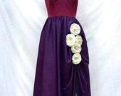 Vintage Evening Dress with Diamond Straps, Frances Brewster Palm Beach, Florida  60s 70s