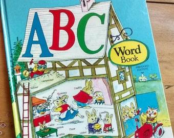 Richard Scarry's ABC Word Book, Vintage Children's Book
