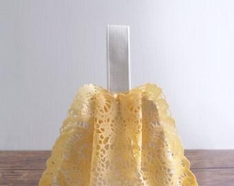 Sally Green shoulder bag, 20% off ON SALE pastel yellow small PVC handbag shoulder bag, style80YC. Ready to ship