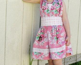 Retro Style Halter Dress