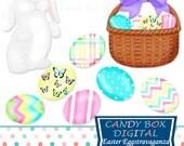 Easter Clipart, Easter Clip Art, Easter Bunny Clipart, Easter Egg Clipart, Bunny Clip Art, Easter Bunny Clip Art - Commercial Use OK