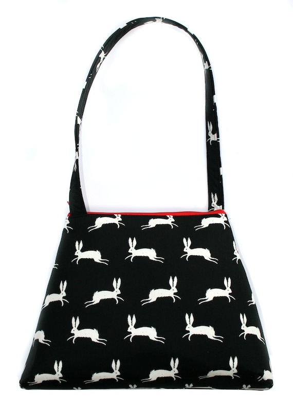 bunnies, black and white, retro style, tall Retro
