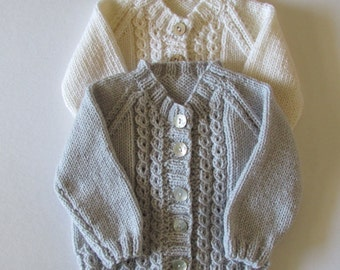 Baby Cabled Cardigan in Two Colors