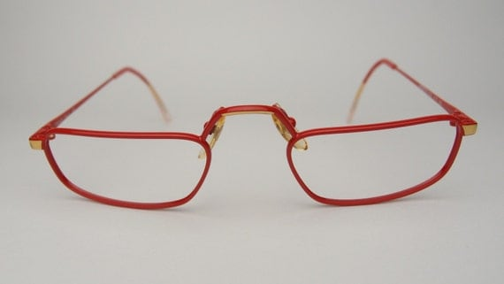 Vintage Adensco Reading Glasses Eyeglasses Frames Rectangle