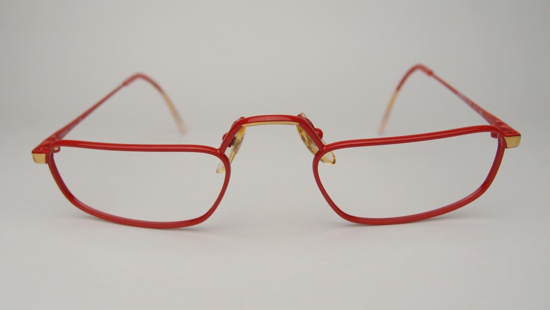 Gold Half Frame Reading Glasses : Vintage Adensco Reading Glasses Eyeglasses Frames Rectangle