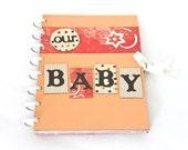 Hardcover Pregnancy Journal Scrapbook Album Gender Neutral Expecting Mom Gift