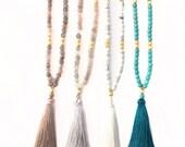 Boho Beaded Tassel Necklace