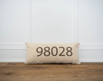 Zipcode Pillow Cover