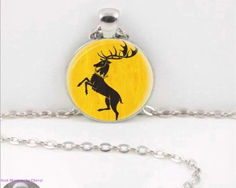 Game of Thrones Sigil Glass Pendant Necklace Baratheon
