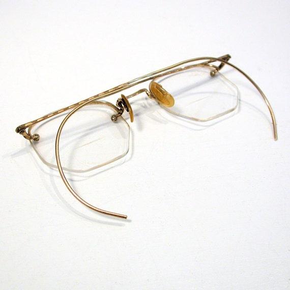 Gold Filled Eyeglass Frames : RESERVED FOR NEIL 1930s Eyeglasses Gold Filled