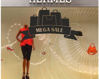 Mega Sale Shop Window decal easy to paste or remove - shop window display - ask us for custom decals (ID: 131059)