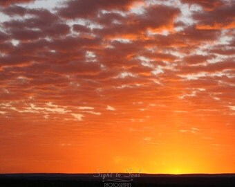 Sunrise Art, southwestern decor, landscape photography, fire in the sky, southwest sunrise, golden dawn, nature wall art