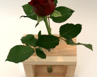 Wooden Bud Vase Home Decor 1 Flower / Ash Wood Vase / Home Decor