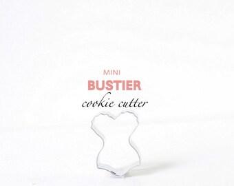 Mini Bustier Corset Lingerie Cookie Cutter - custom cookies - bachelorette - wedding -