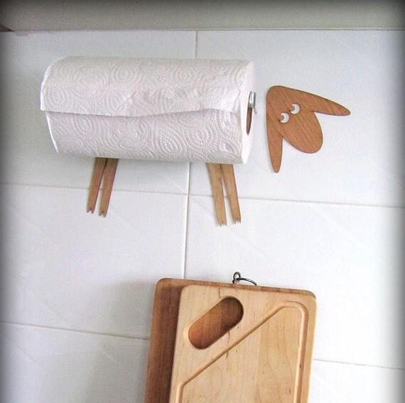 Wall Mount Paper Towel Holder Sheep Without Screws By Antgl