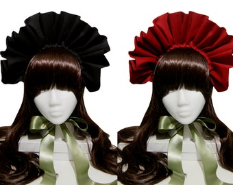 Beautiful Ruffled Soft Gothic and Lolita Bonnet - Many Available Colors