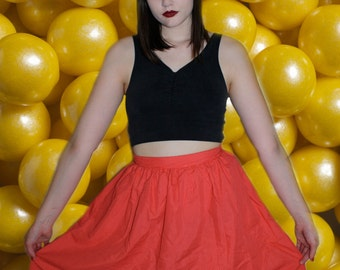 Vintage Red and White Polka Dot Circle Skirt