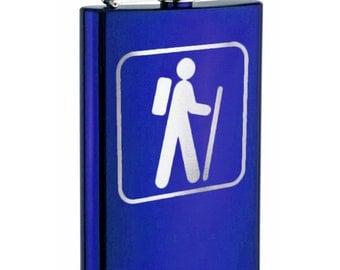 Stainless steel flask - custom engraved hiker flask