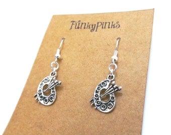 Artist Earrings, Pallet Earrings, Artist Pallet Earrings, Painter Earrings, Artist Jewellery, Artist Jewelry, Painter Jewellery