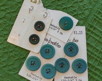Green-y Blue buttons
