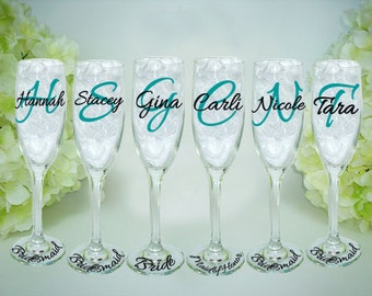 wedding toasting flutes personalized mr by vinylthingzevents