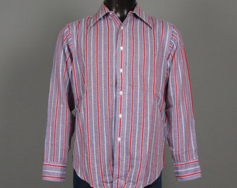 Mens Shirt -- Vintage 1970s Deadstock Polo Ralph Lauren Long Sleeve Lighweight Shirt -- NWOT Size 16-34 L/XL